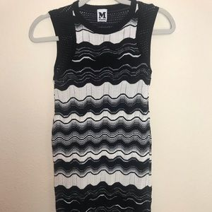 Missoni black & white knit dress
